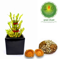 Diwali Gift Bamboo combo for Home Decor