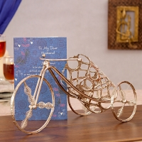 Greeting Card with Tricycle Bottle Holder